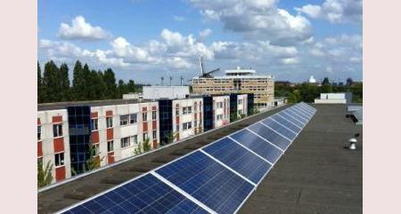 zonnepanelen en led verlichting voor woonblok adolf van nassaustraat bos en lommerweg in amsterdam